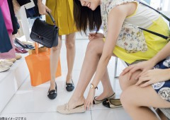 婦人靴 ためし履き