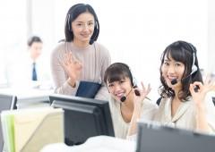 事務系 電話 女性 3人