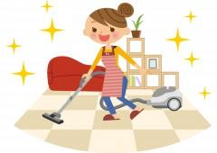 女性 掃除イラスト
