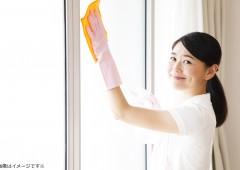 窓ふき 女性